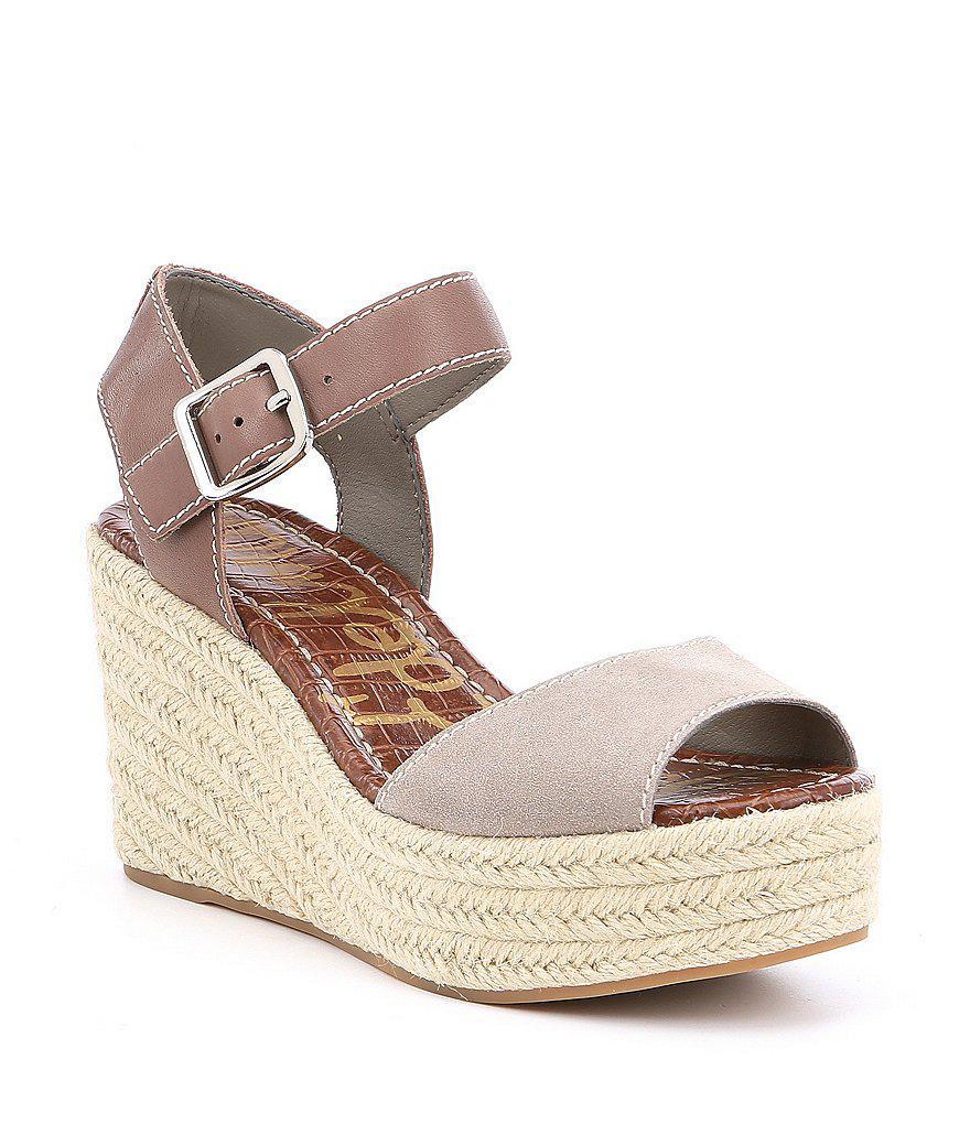 882c757dd Sam Edelman. Women s Dimitree Suede Espadrille Wedge Sandals