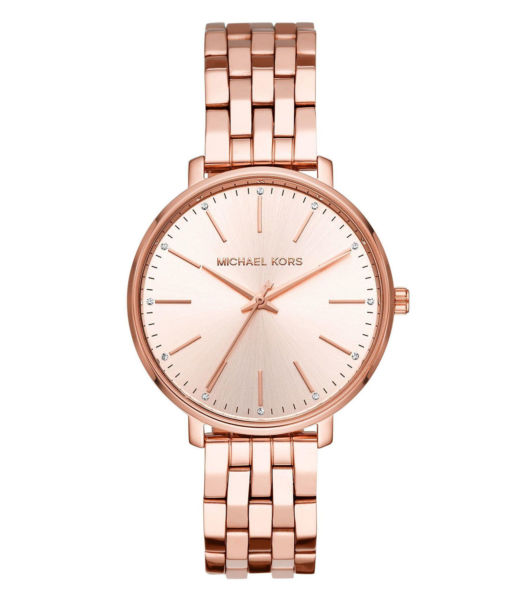 5c22fcded13e Michael Kors - Metallic Women s Norie Three-hand Red Coated Stainless Steel  Watch - Lyst. View fullscreen