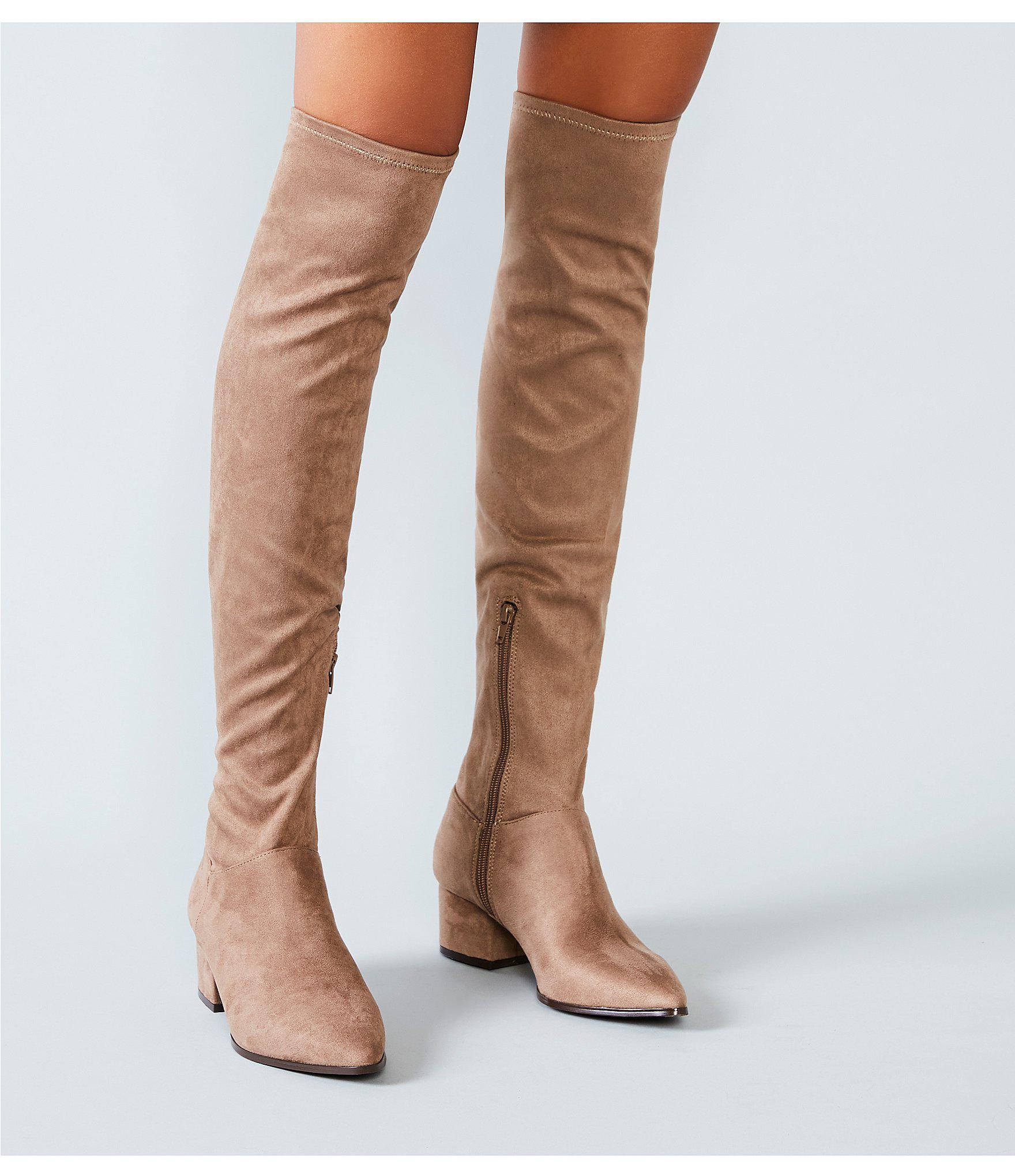 fdded18492e2 Steve Madden Carli Over The Knee Block Heel Boots in Brown - Lyst