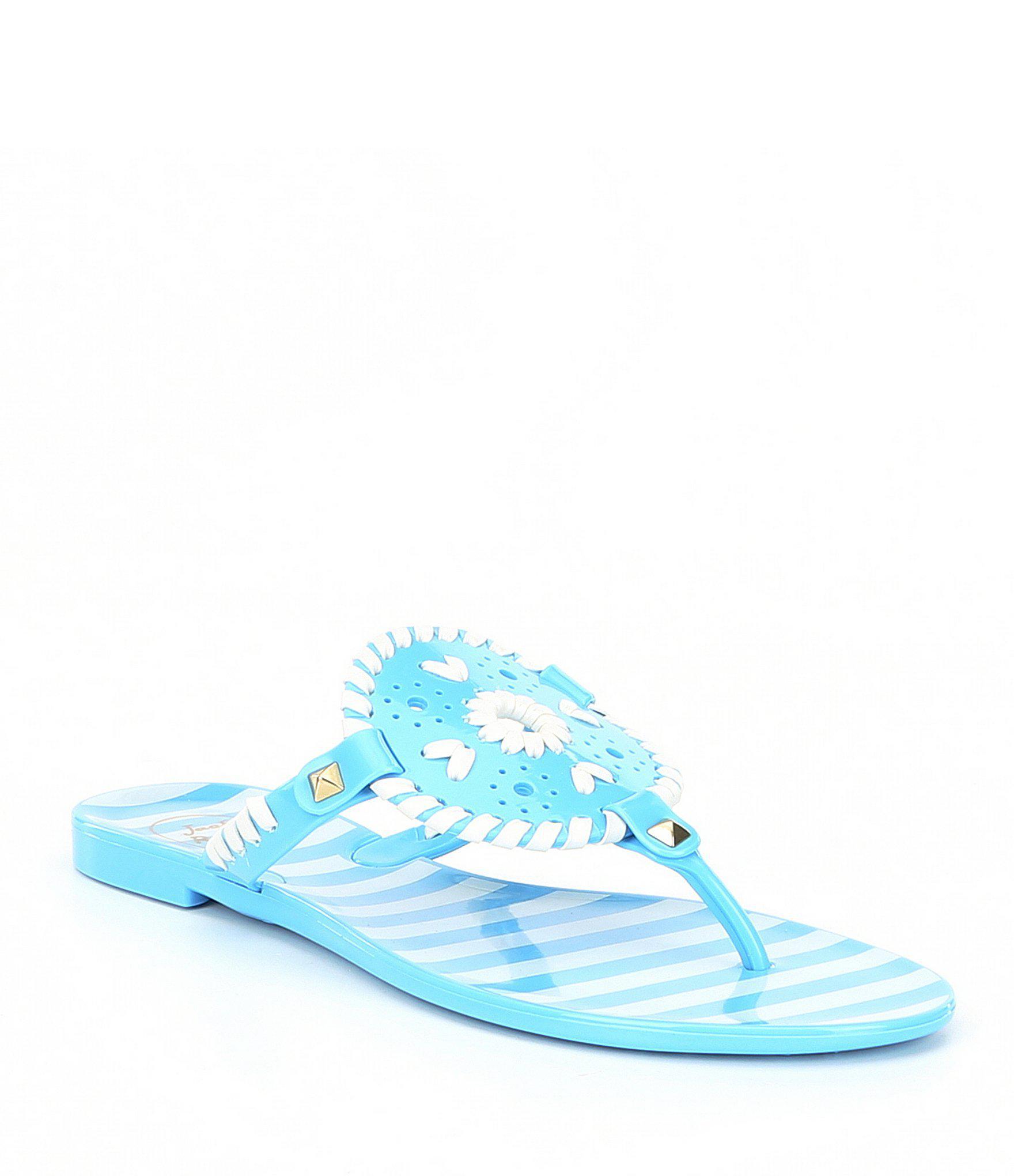 fbe3e7df050f Lyst - Jack Rogers Georgica Stripe Jelly Sandals in Blue