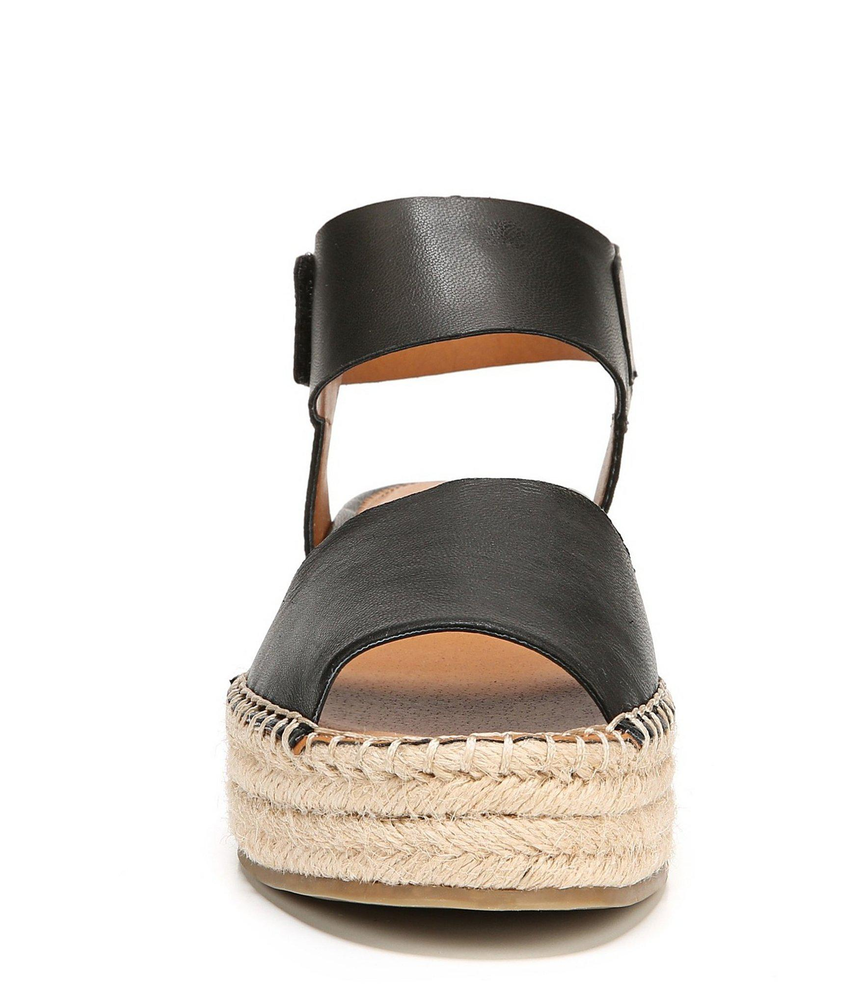 b98680cd3a95 Lyst - Franco Sarto Sarto By Oak Ankle Strap Espadrille Sandals in Black