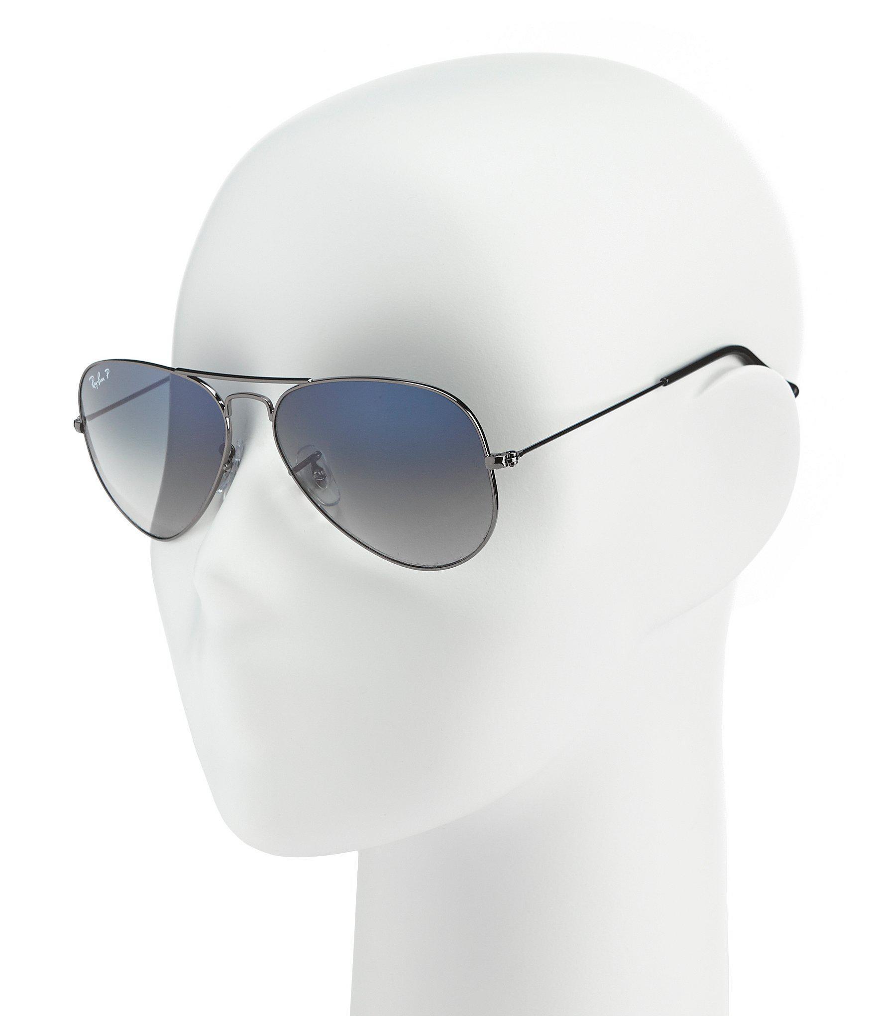 b219e215f51 Ray-Ban - Blue Polarized Metal Uv Protection Aviator Sunglasses for Men -  Lyst. View fullscreen