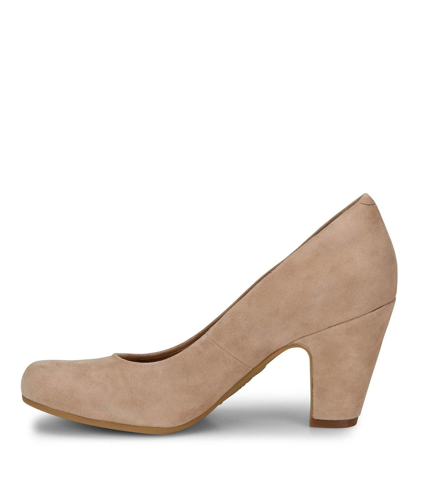 c3929708193f ... Suede Block Heel Pumps - Lyst. View fullscreen