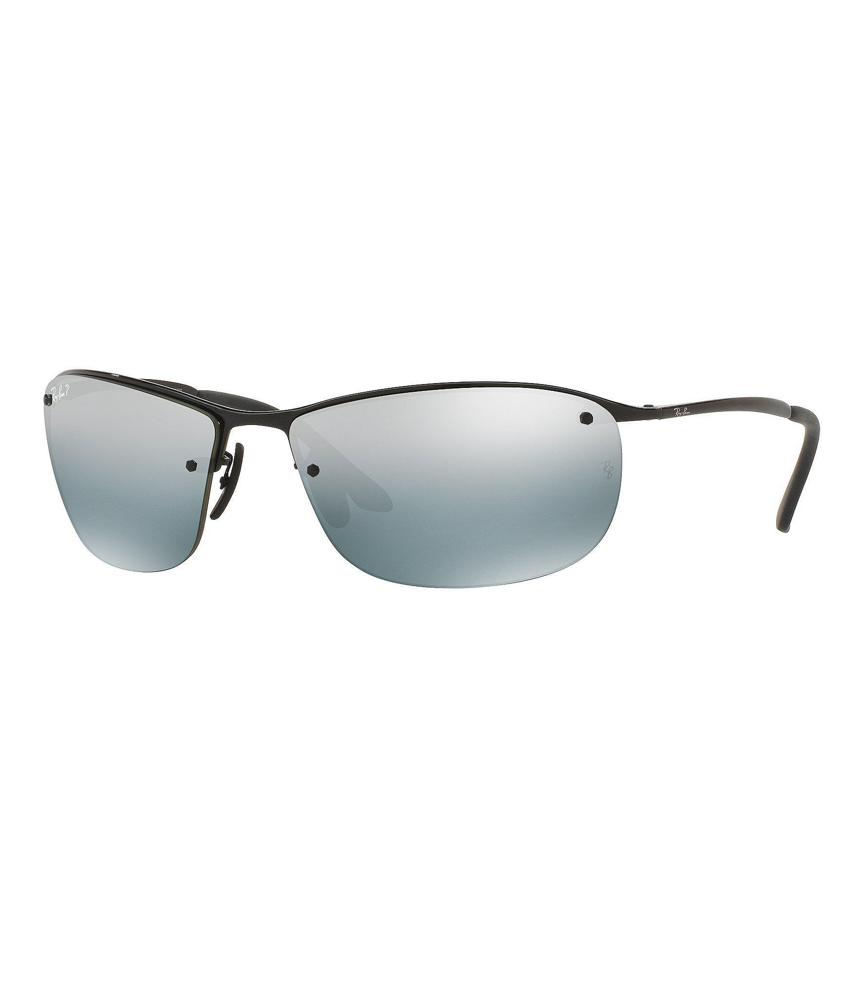 b201ea6226 Lyst - Ray-Ban Chromance Flash mirror Wrap Sunglasses in Black for Men