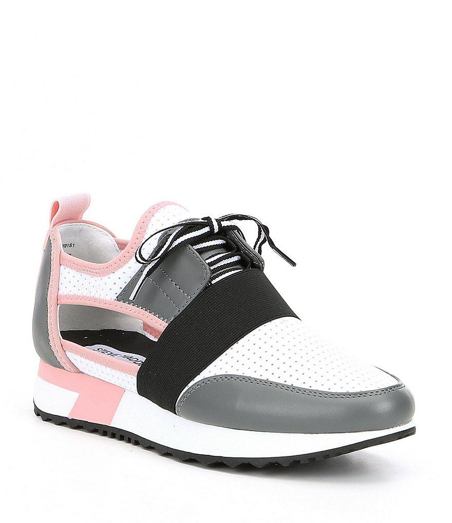 d9ee289c34a Lyst - Steve Madden Arctic Cutout Sneakers in Gray