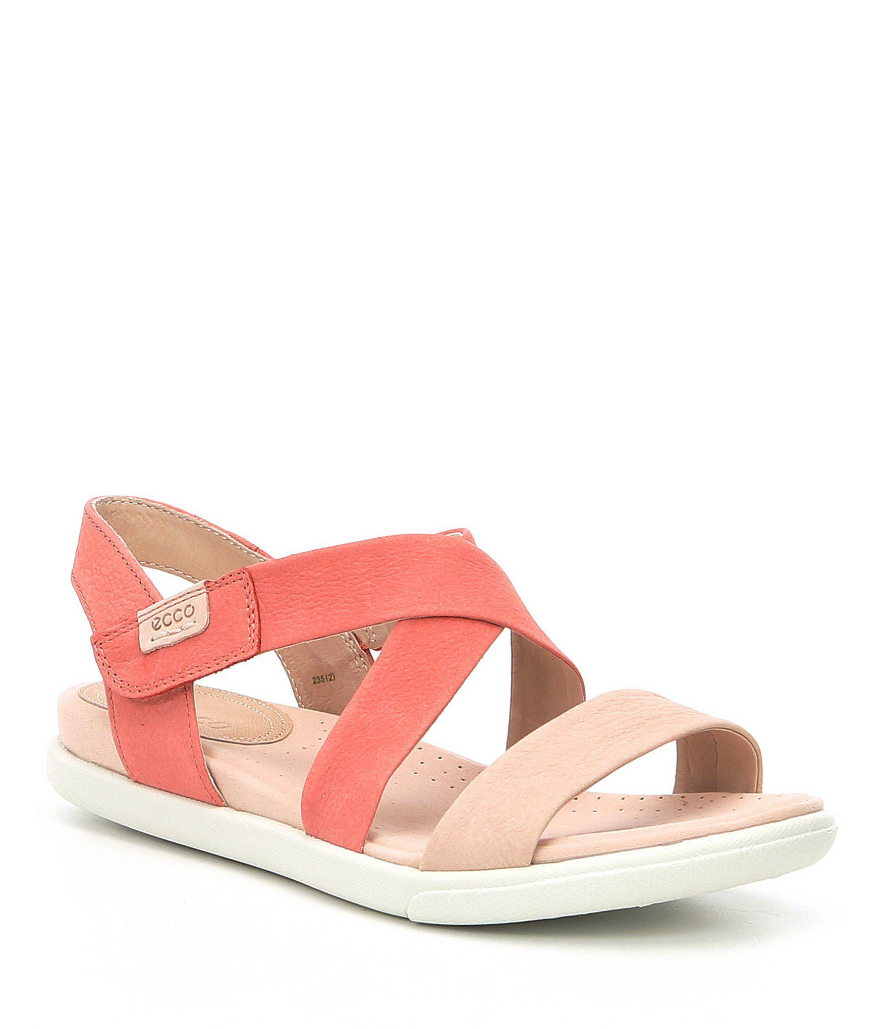 d81a86a3e436 Lyst - Ecco Damara Criss Cross Sandals in Pink