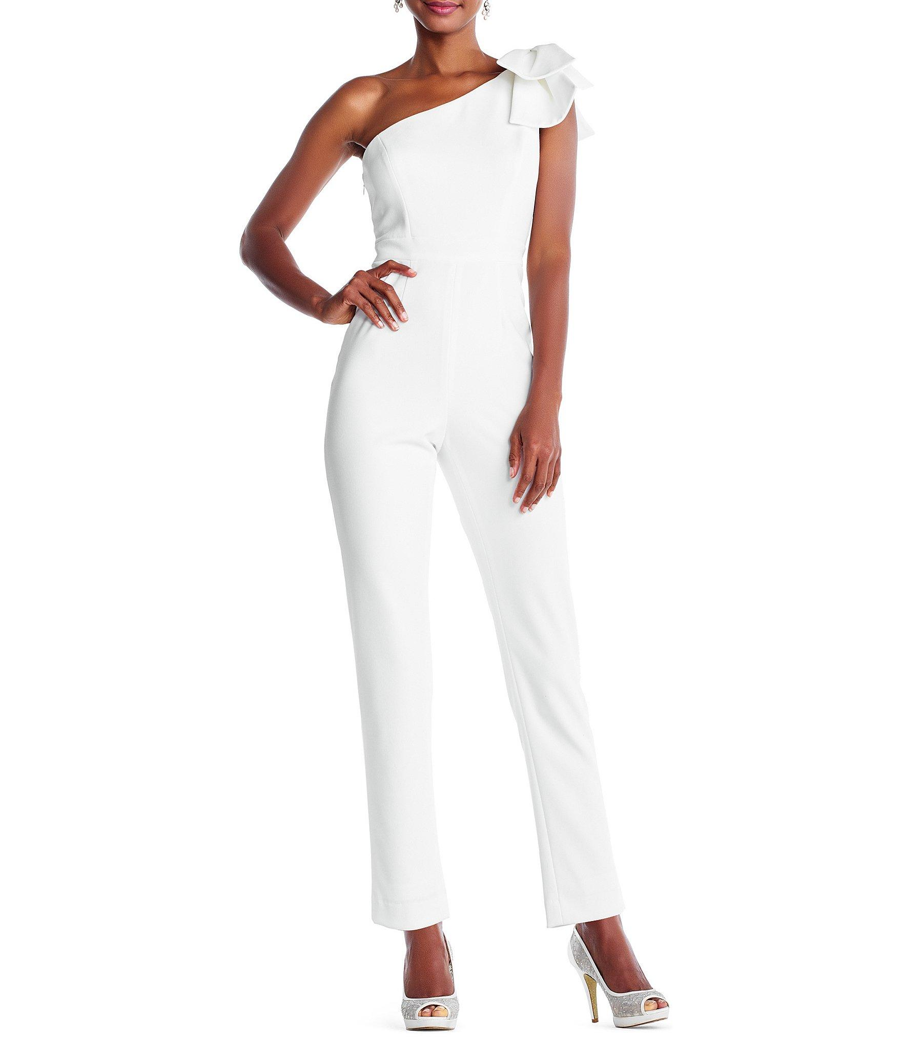 38462d7897d Lyst - Adrianna Papell Petite Size One-shoulder Bow Jumpsuit in ...