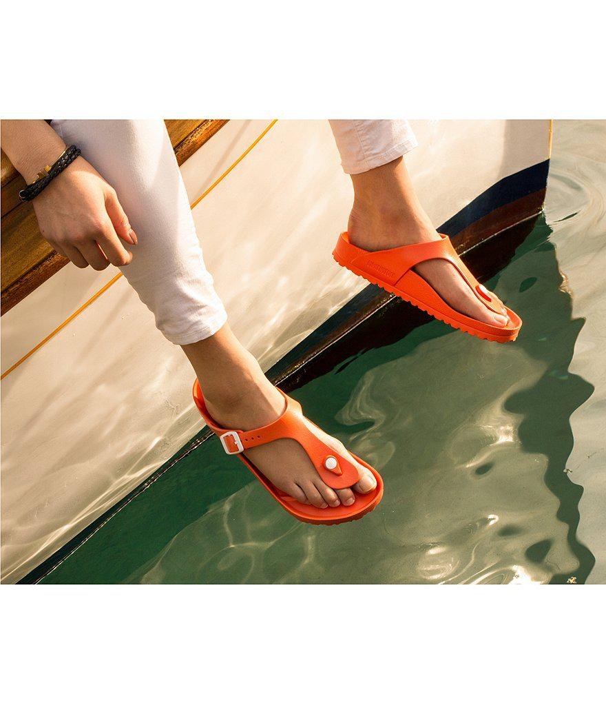 e50c2a5a3bd1 Lyst - Birkenstock Gizeh Eva Waterproof Essentials Thong Sandals in ...
