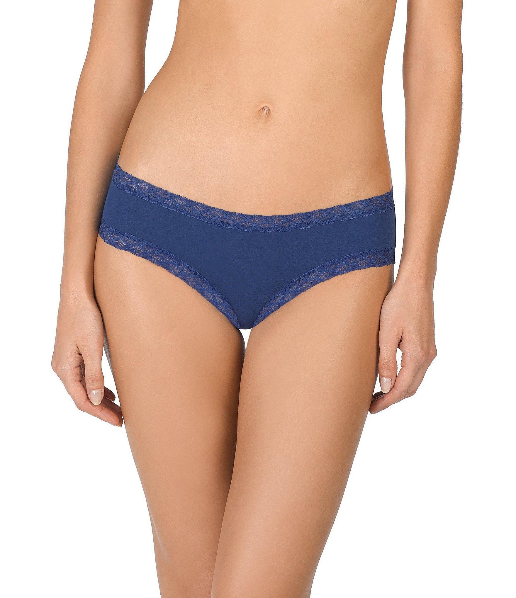 a0dbca7ad3dd Lyst - Natori Bliss Pima Cotton Girl Brief Panty in Blue