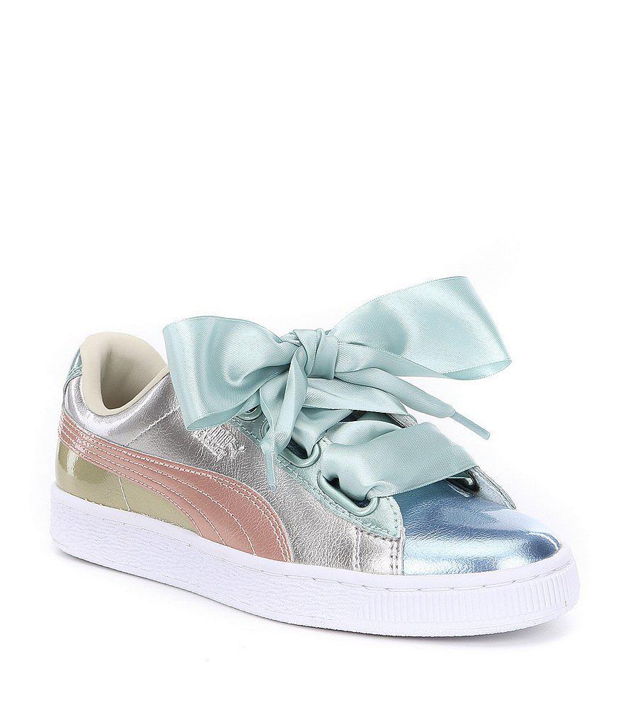 reputable site 47923 92604 PUMA Metallic Basket Heart Bauble Sneakers
