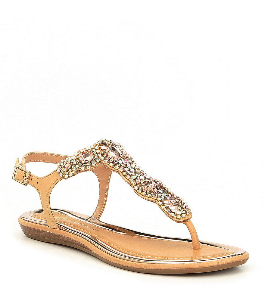 Santine Rhinestone Embellished Thong Sandals 5HRsX7