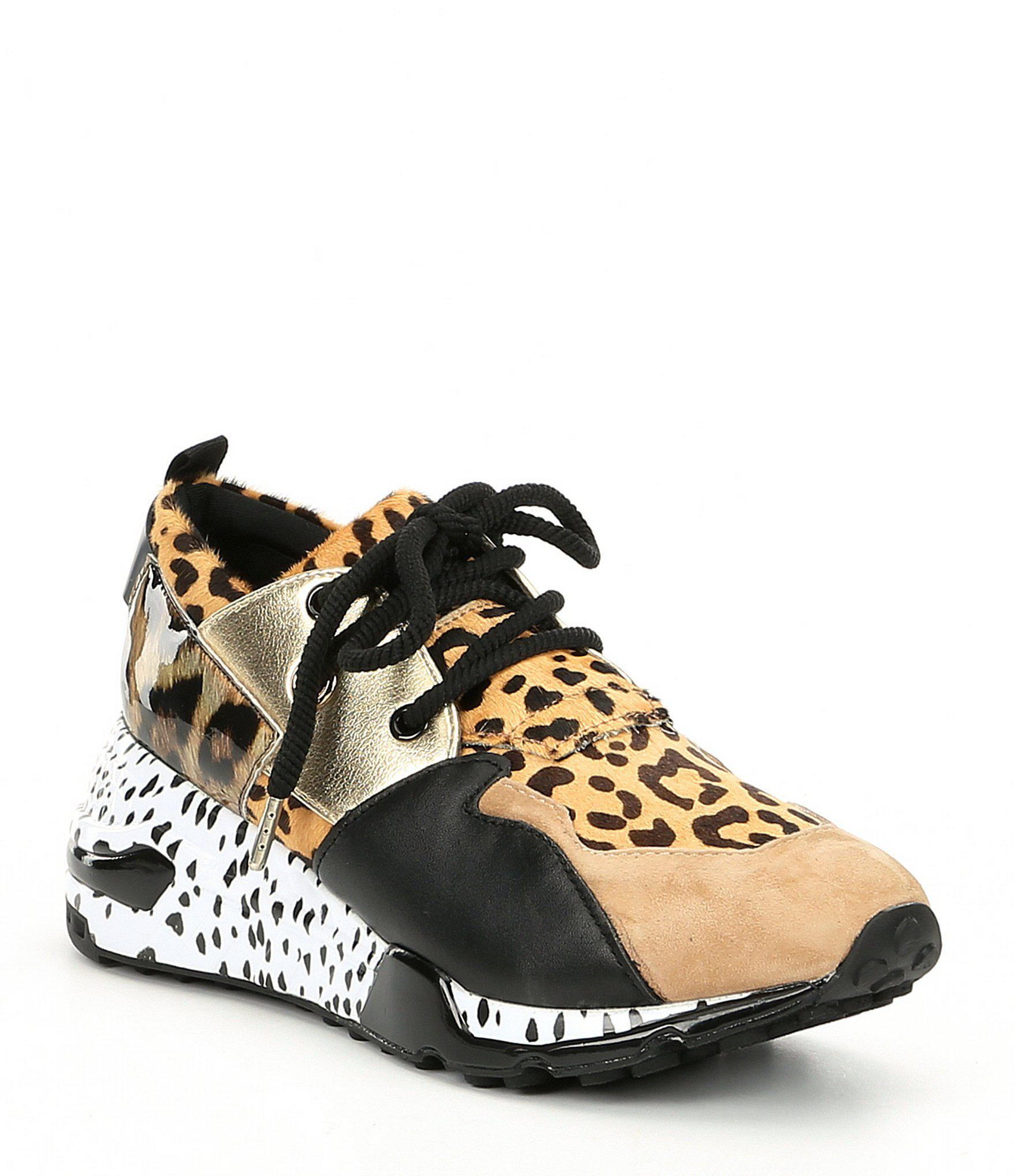 c129962b539 Steve Madden Multicolor Cliff Leather And Suede Animal Print Sneakers