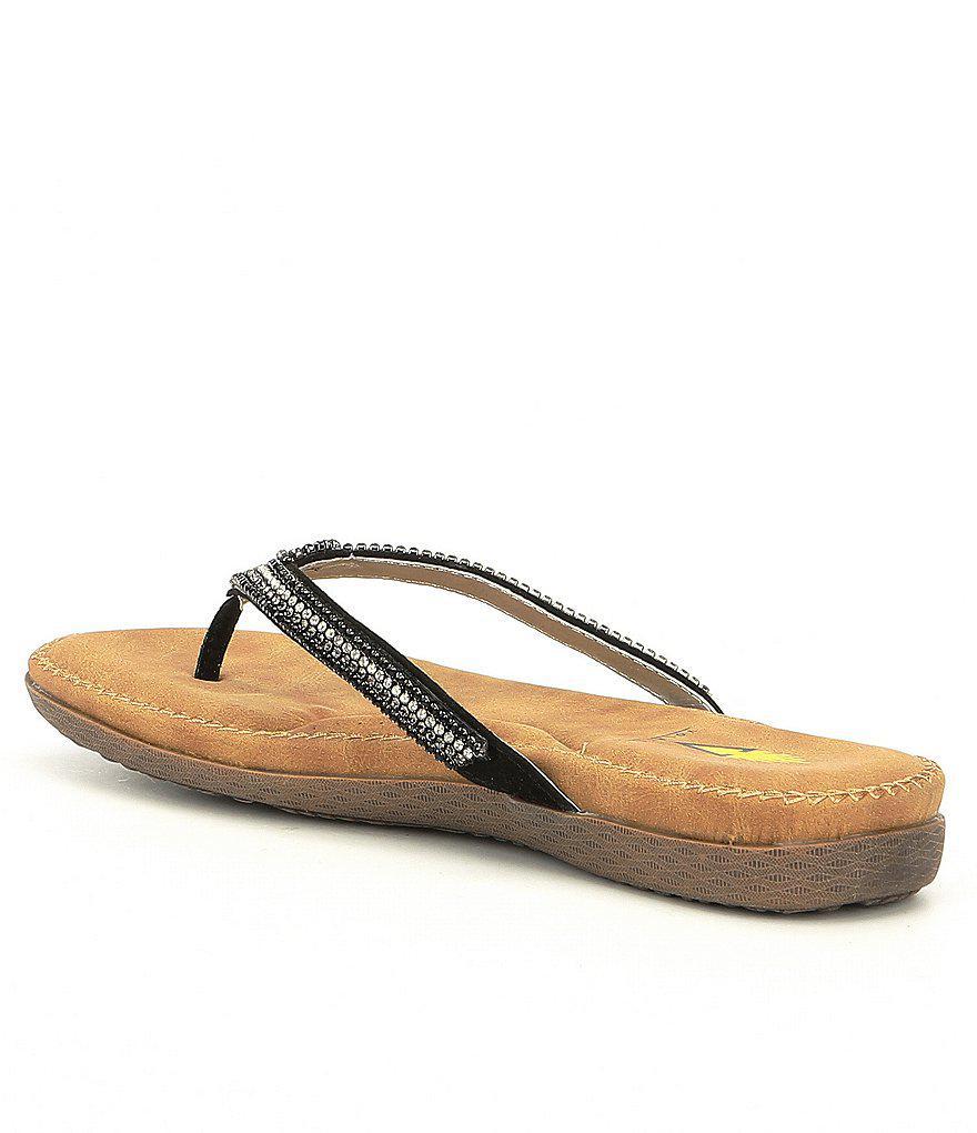 Volatile Alina Jeweled Thong Sandals dxEuRJKJTM