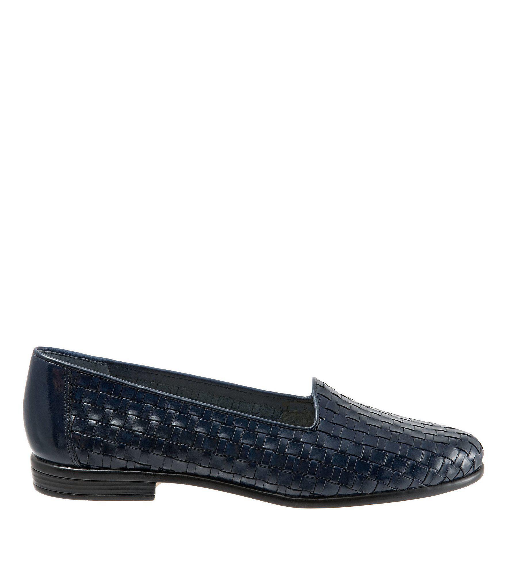 b4c2587f331 Trotters - Blue Liz Woven Block Heel Loafers - Lyst. View fullscreen
