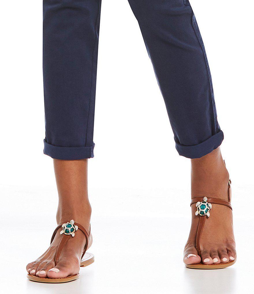 Tulias Jewel Turtle Ornament Thong Sandals QtFomFk1