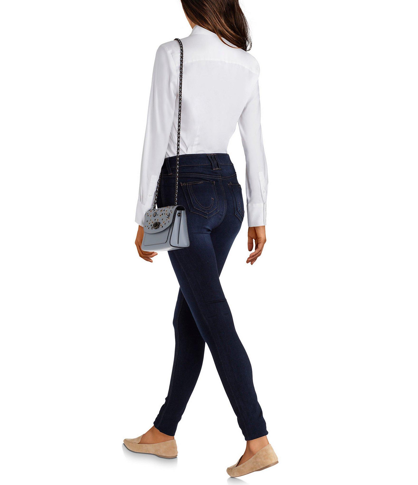 86e5d5ea65 Women's Blue Parker 18 Scattered Rivets Floral Applique Shoulder Bag