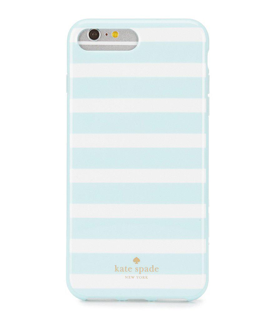 designer fashion ebe19 c0bc4 Kate Spade Blue Fairmount Square Striped Iphone 7 Plus Case