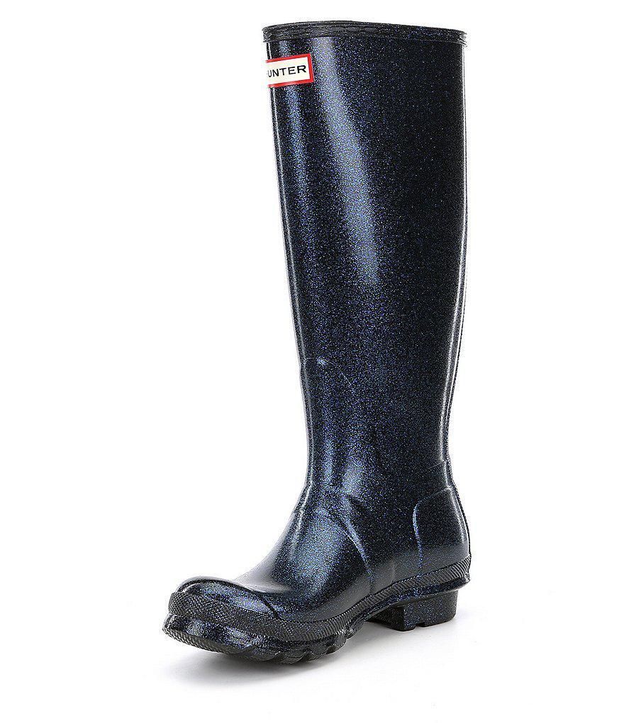Women S Original Starcloud Buckle Detail Tall Glitter Rain Boots