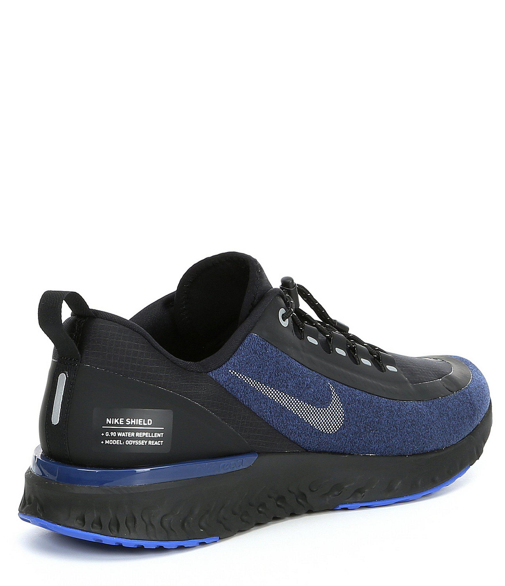 97506384ca53 Lyst - Nike Men s Odyssey React Shield Running Shield in Blue for Men