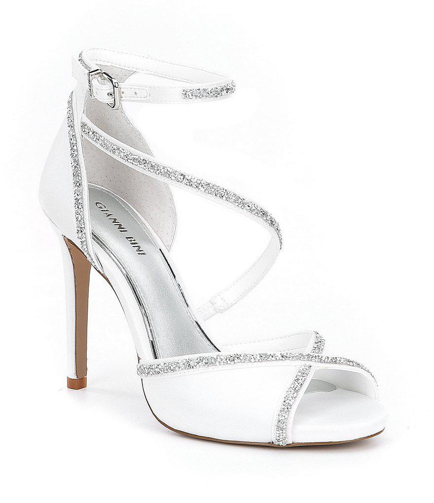 Gianni Bini Rosalynd Satin Hot Rock Detail Ankle Strap Dress Sandals hlqMVRx4