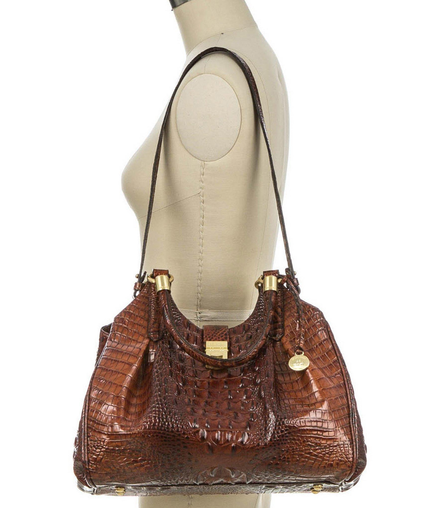 Brahmin - Brown Melbourne Collection Elisa Croco-embossed Hobo Bag - Lyst.  View fullscreen 667a9fc5d3d5d