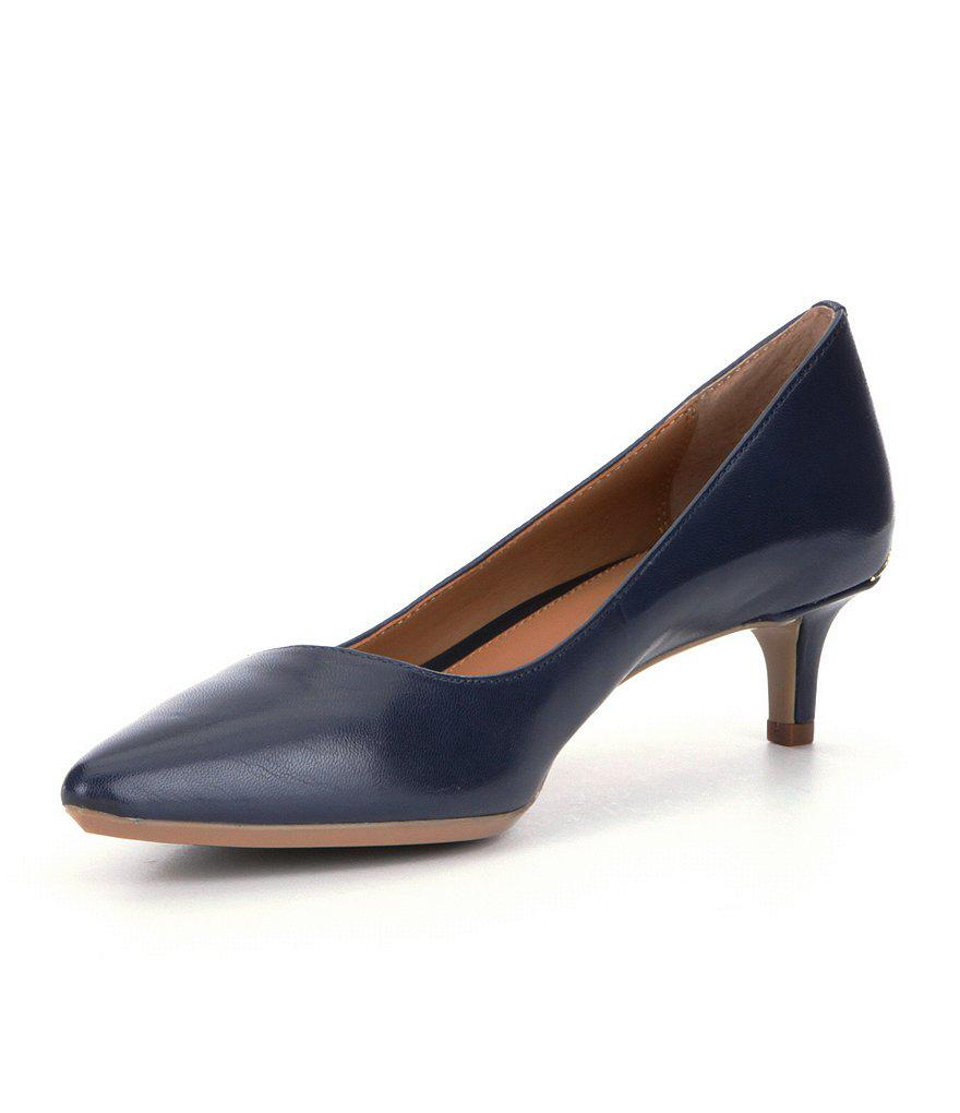 Calvin Klein | Blue Gabrianna Pointed-toe Kitten Pumps | Lyst. View  Fullscreen