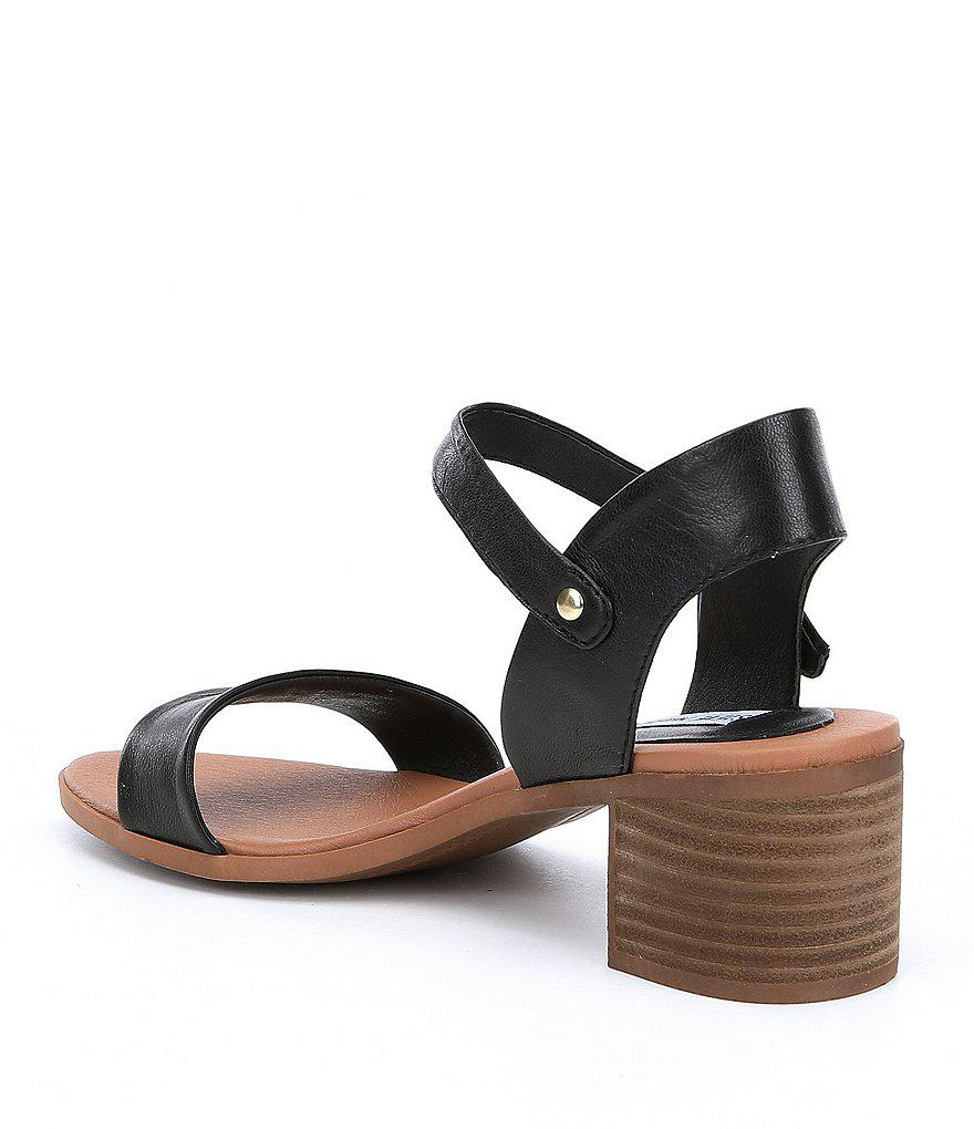 April Leather Stacked Heel Dress Sandals LQqCgHdO