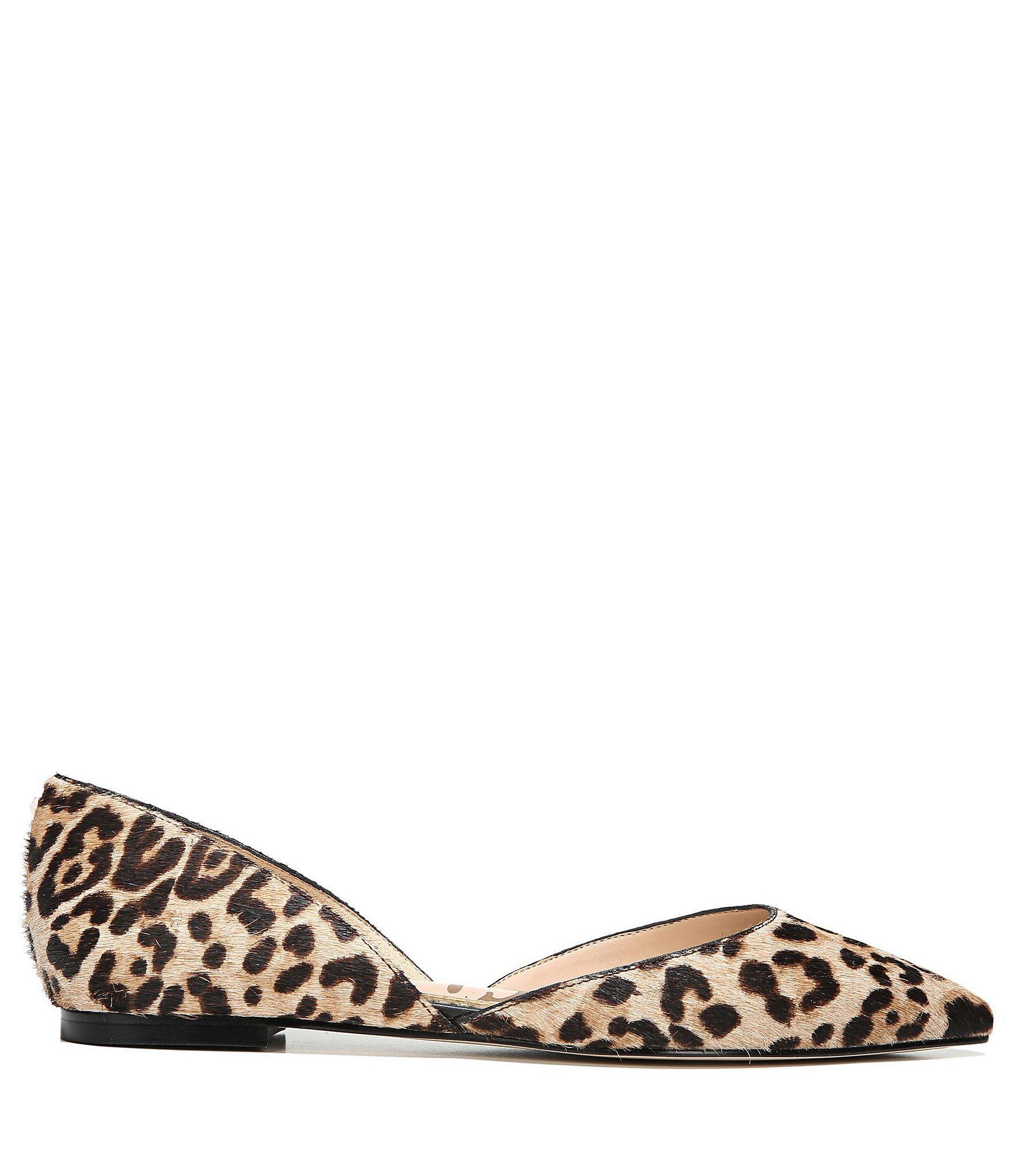 09c063ab1c7ba Sam Edelman - Multicolor Rodney Leopard Print Calf Hair Flats - Lyst. View  fullscreen