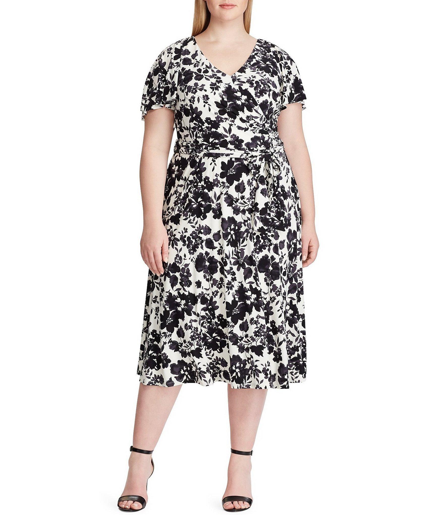 663f145a181 Lyst - Lauren by Ralph Lauren Plus Size Leota Floral Print Short ...