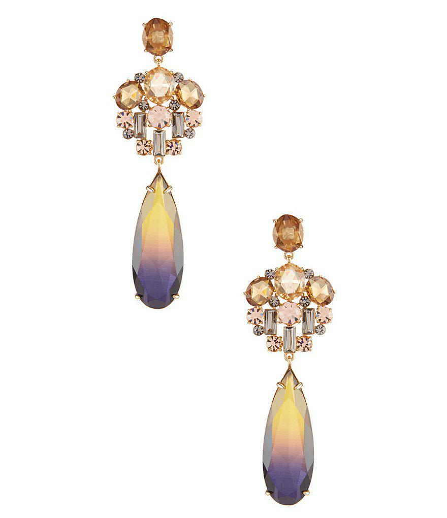 Kate spade Light Things Up Chandelier Earrings in Metallic | Lyst