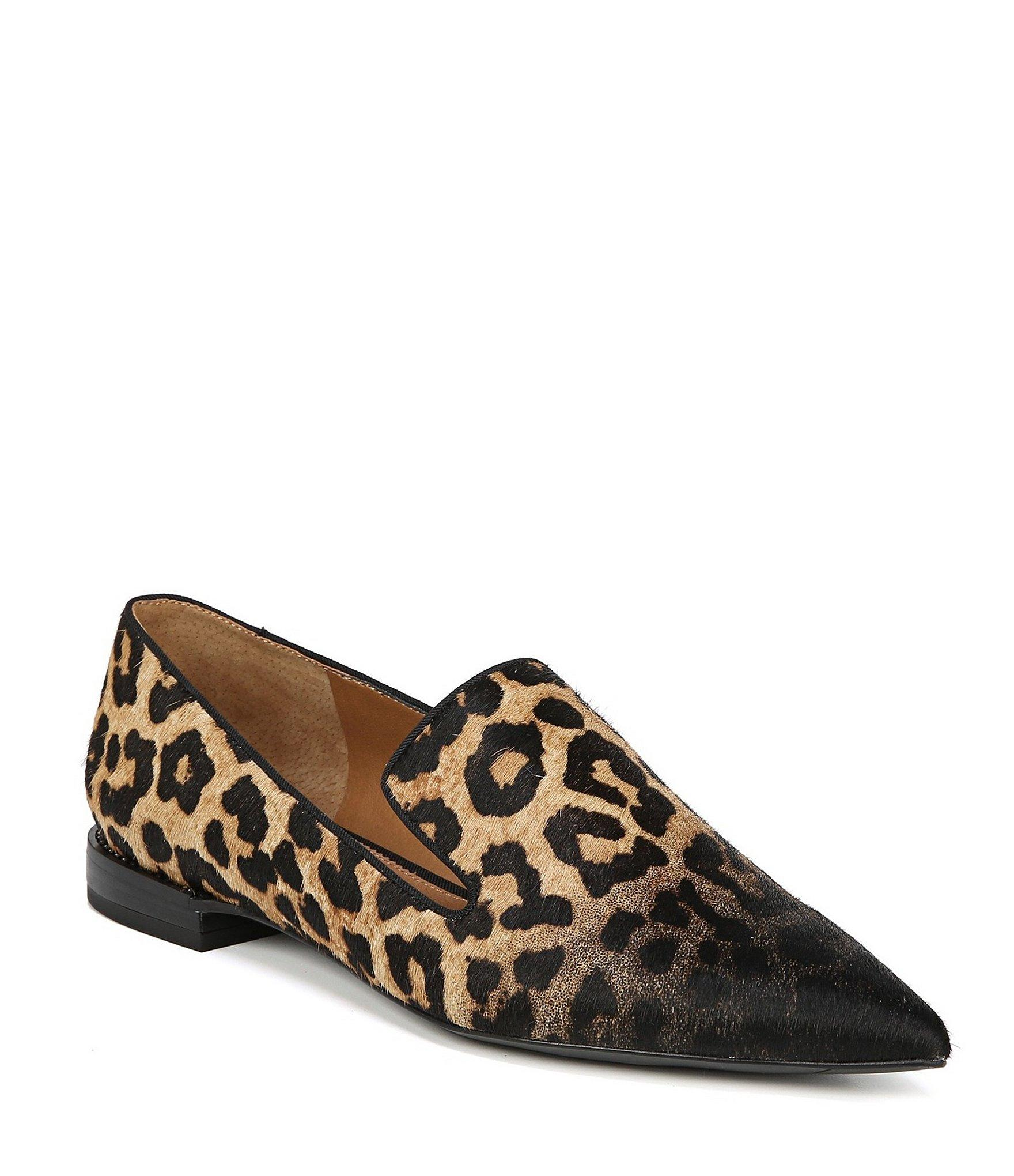 2fcac724e6c Franco Sarto. Women s Sarto By Topaz 2 Leopard Print Calf Hair Loafers
