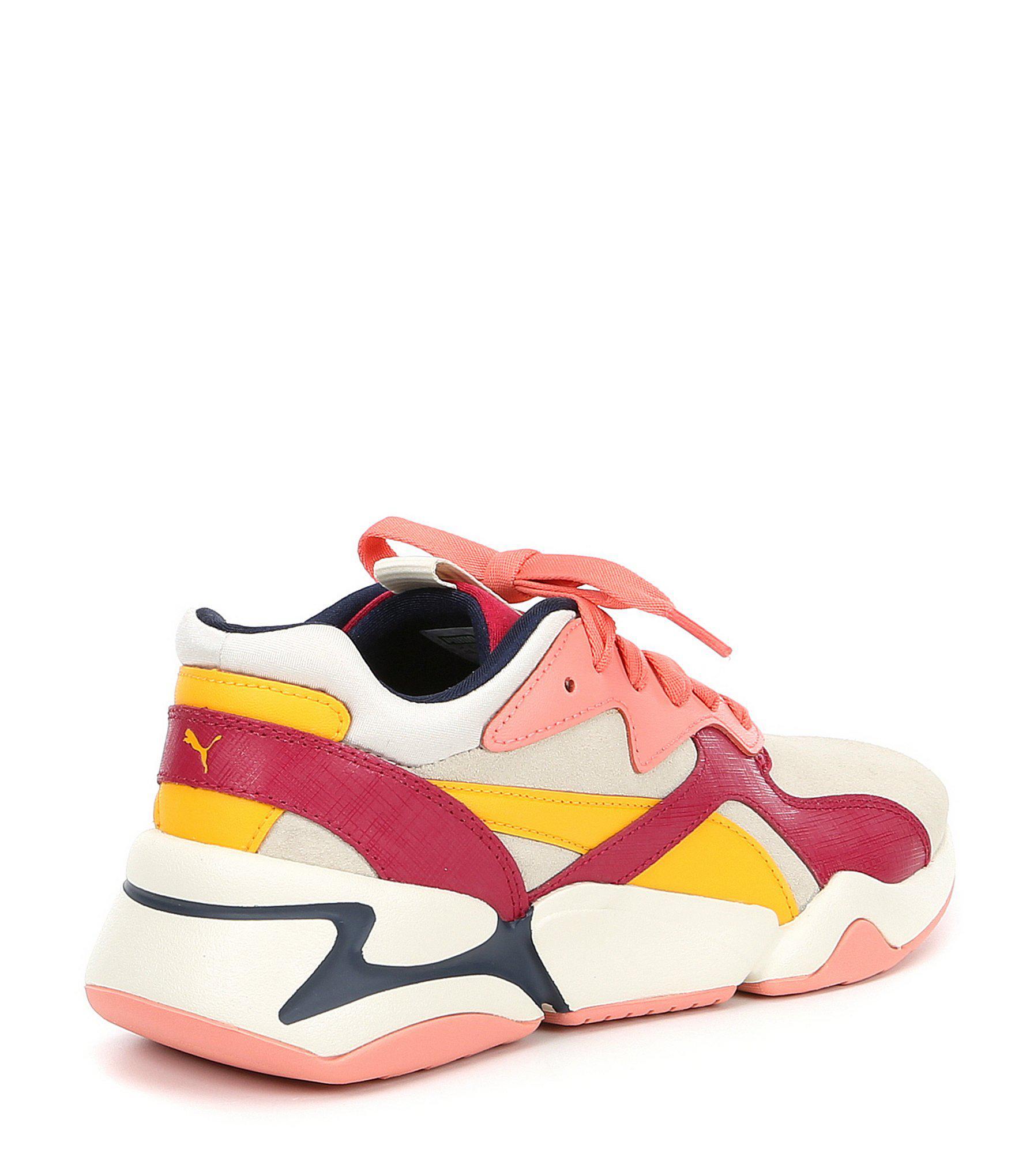 64c00c5ba19b PUMA - White Women s Nova Colorblocked Sneakers - Lyst. View fullscreen