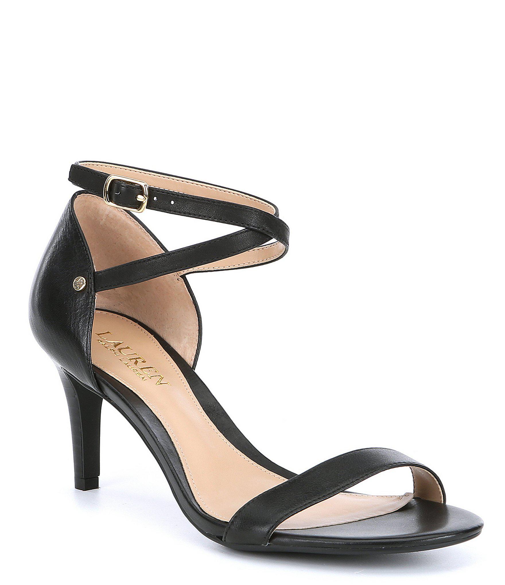 ef346d69ce1 Lauren by Ralph Lauren Black Glinda Leather Dress Sandals