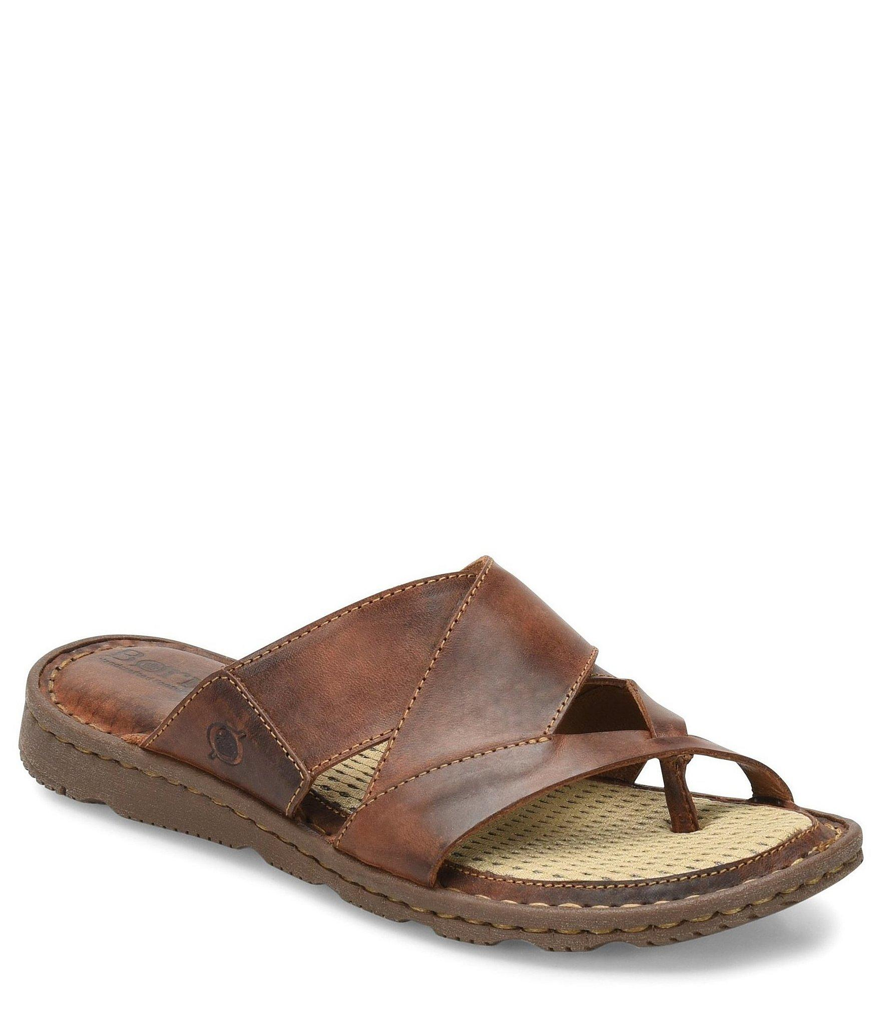d8a9e40ea453 Lyst - Born Sorja Ii Leather Thong Slide Sandals in Brown