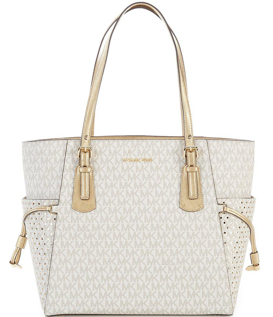 0b2b14f56bf6 MICHAEL Michael Kors Signature Voyager East/west Tote in Metallic - Lyst