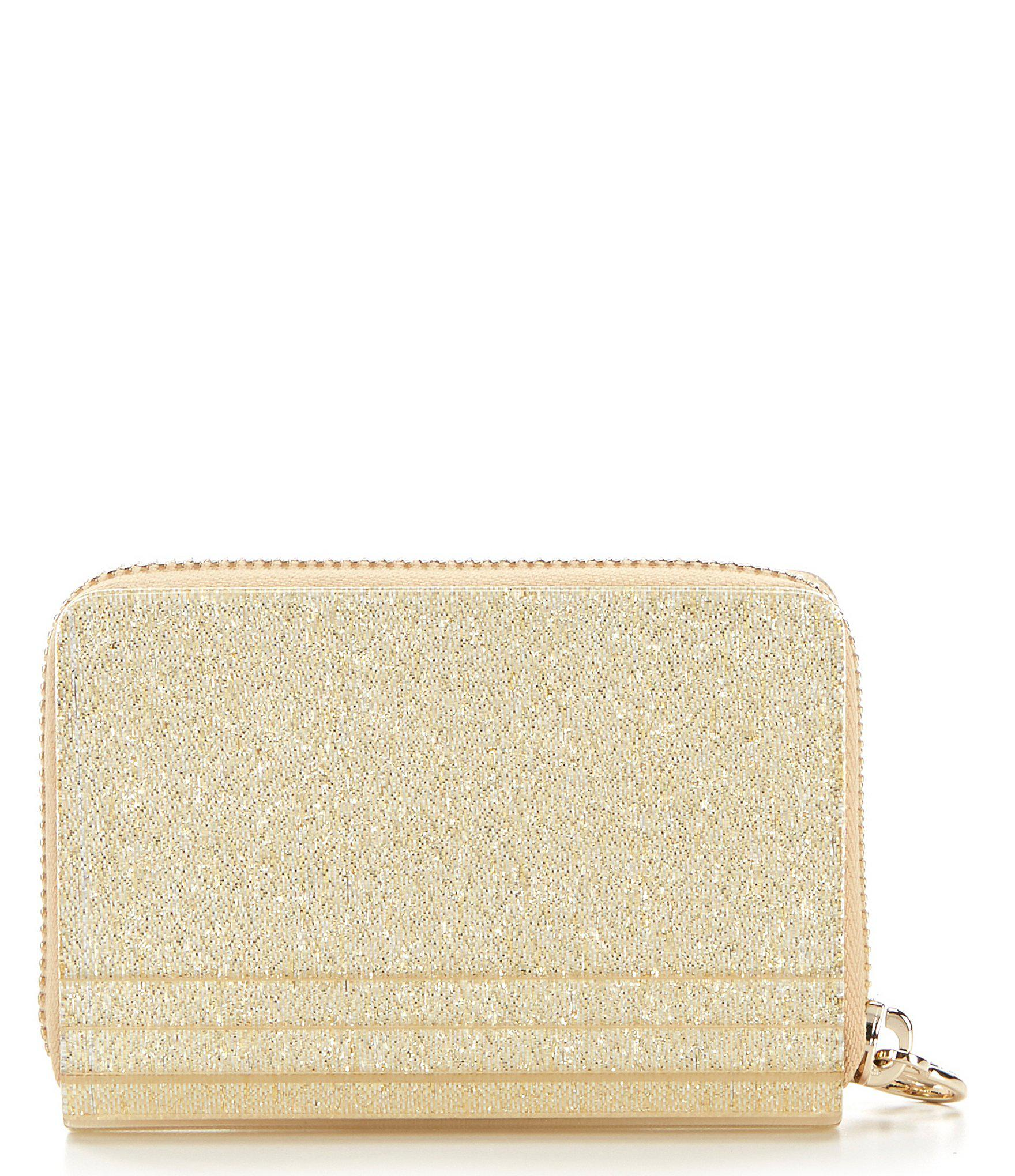 235b020b7b4e MICHAEL Michael Kors - Metallic Barbara Zip Around Coin And Card Case -  Lyst. View fullscreen