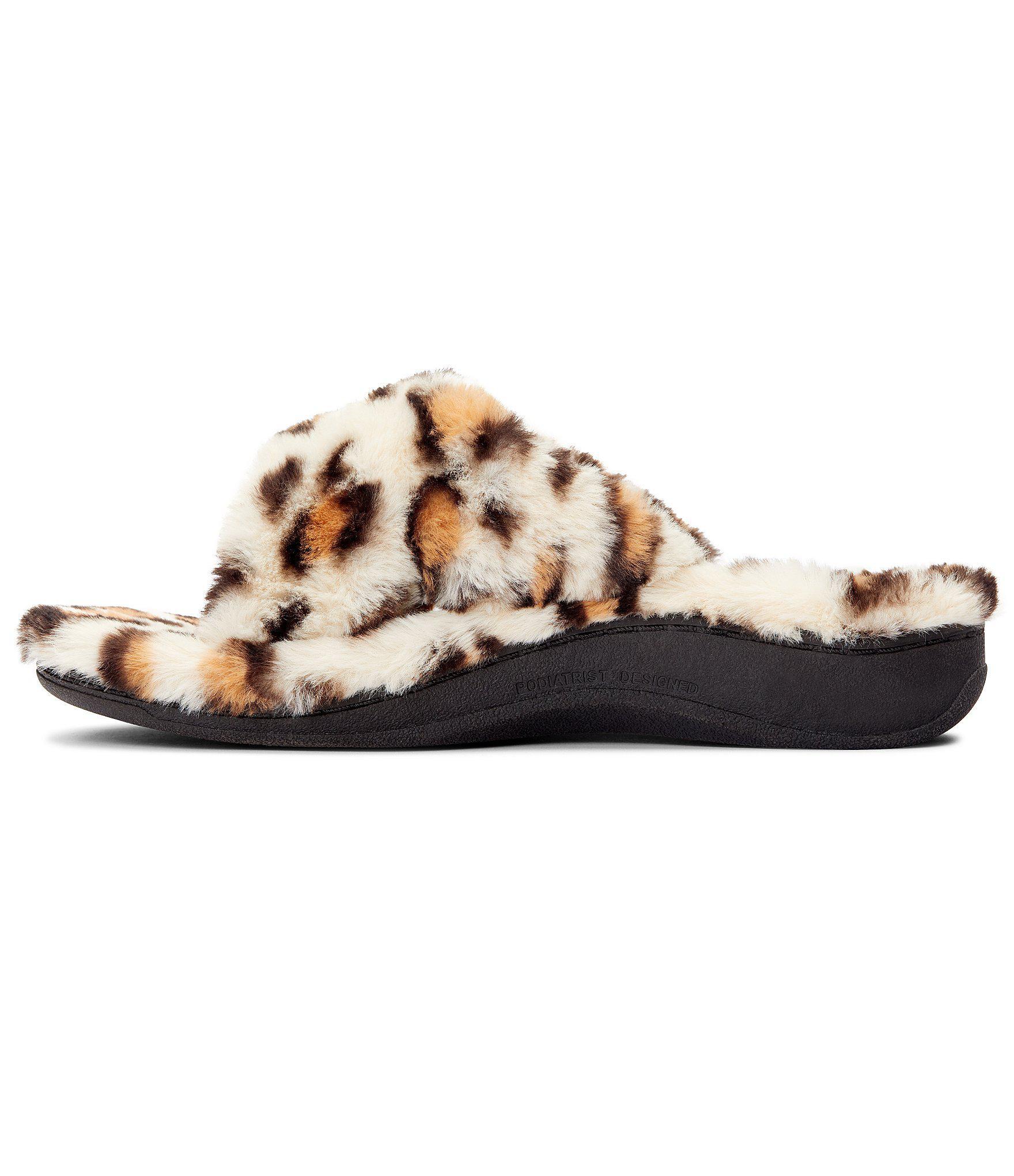 74703eaa53f Vionic - Multicolor Relax Plush Leopard Print Slippers - Lyst. View  fullscreen
