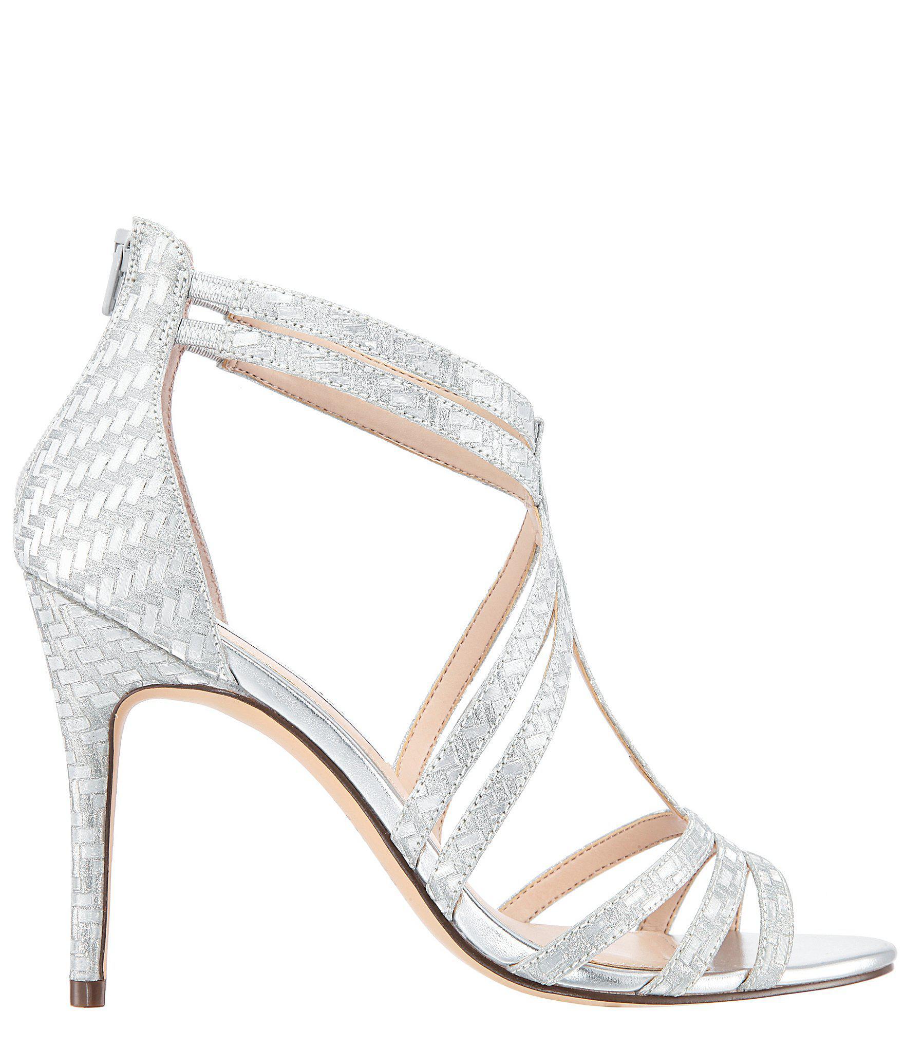 4102d6bb3d9 Nina - Metallic Carlie Glitter Weave Dress Sandals - Lyst. View fullscreen
