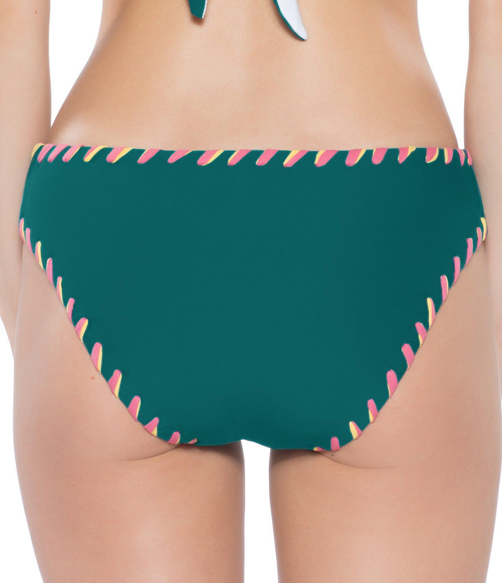 5f8cba85b08dc Becca - Green Camille Reversible Hand Looped Swimsuit Bottom - Lyst. View  fullscreen