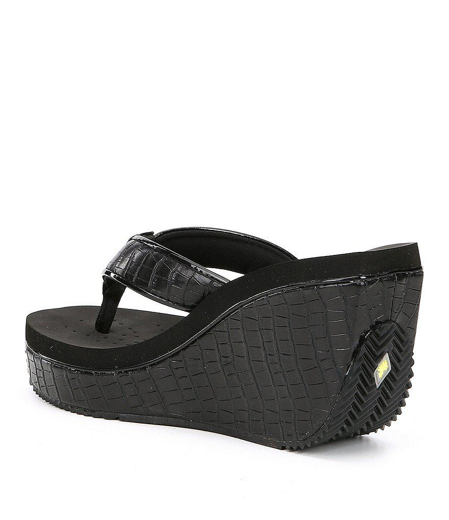 Volatile Goldmine Wedge Thong Sandals
