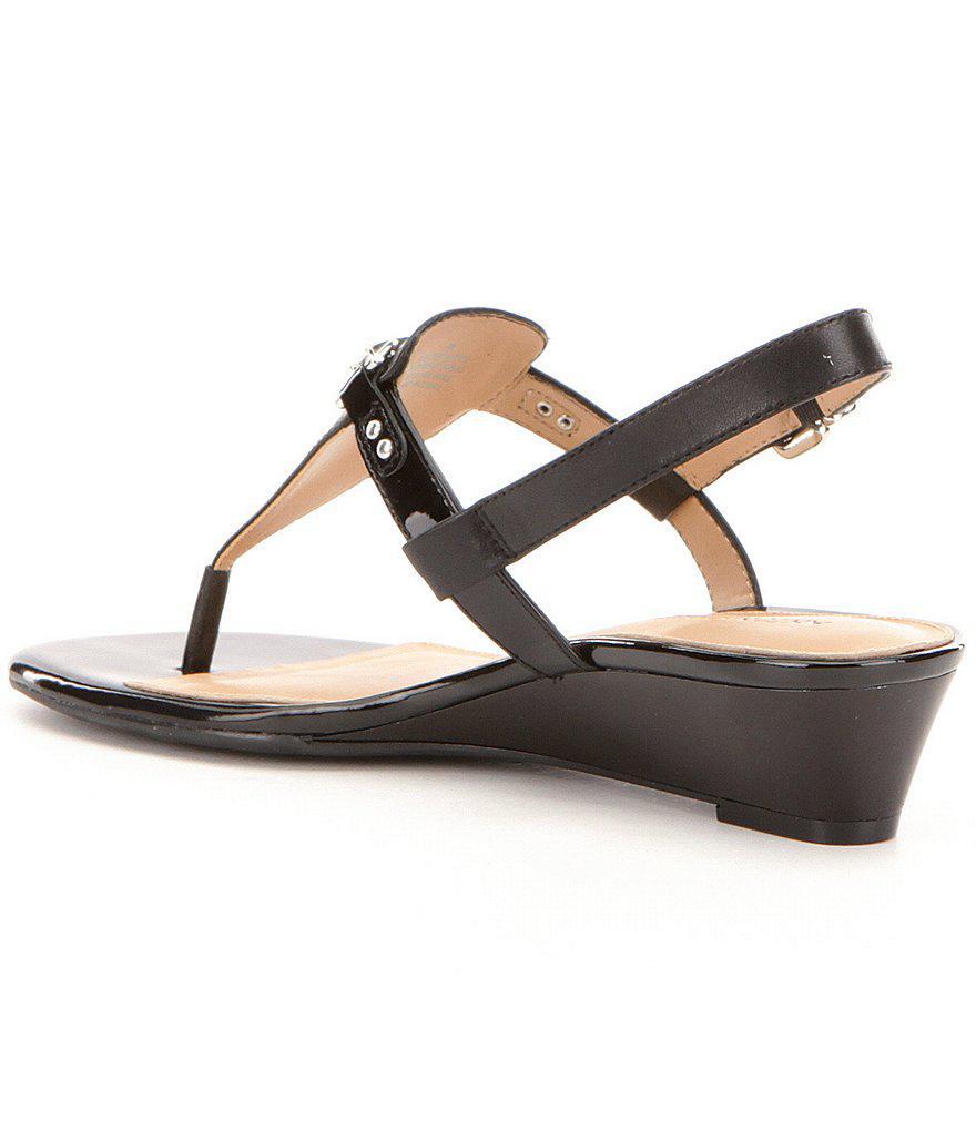 Antonio Melani Amirah Leather Thong Wedge Sandals kF4fV