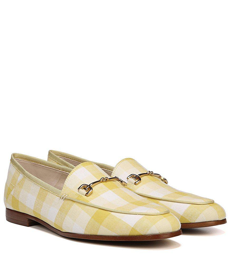 Loraine Gingham Print Fabric Loafers QXO9Z4oINq