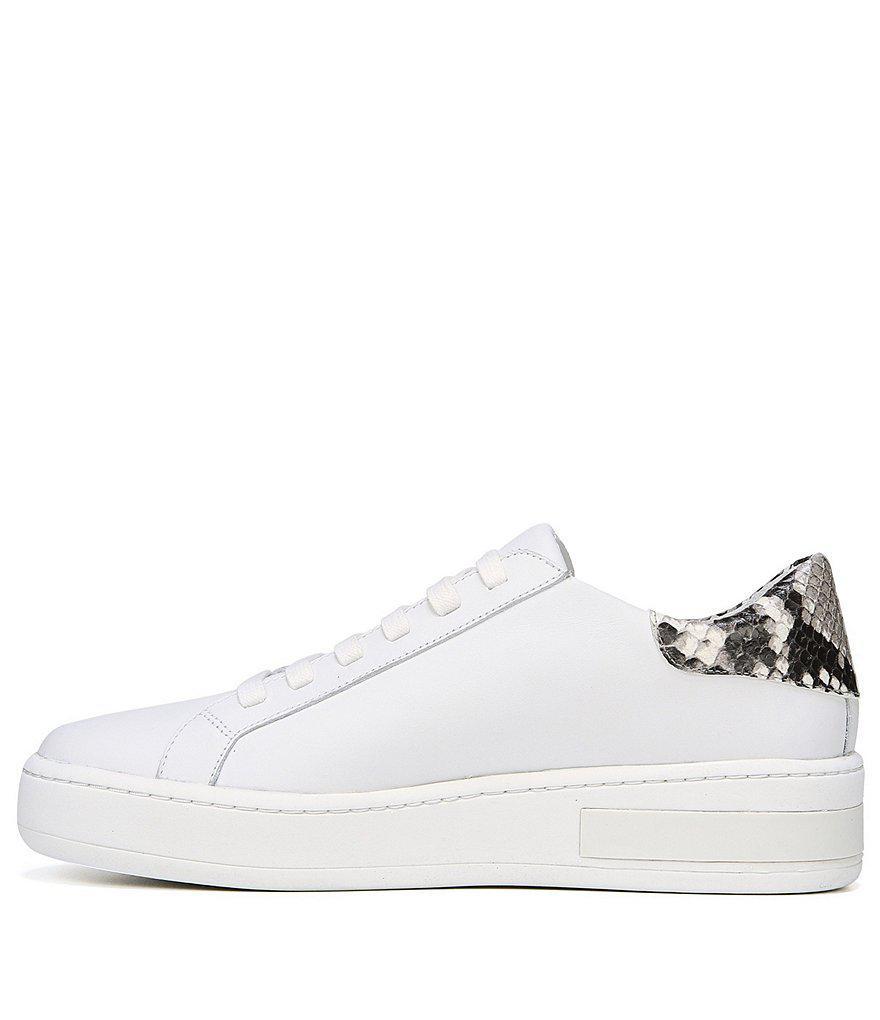 Via Spiga Rylen Snake Print Leather Sneakers 1A0MG4qtnv