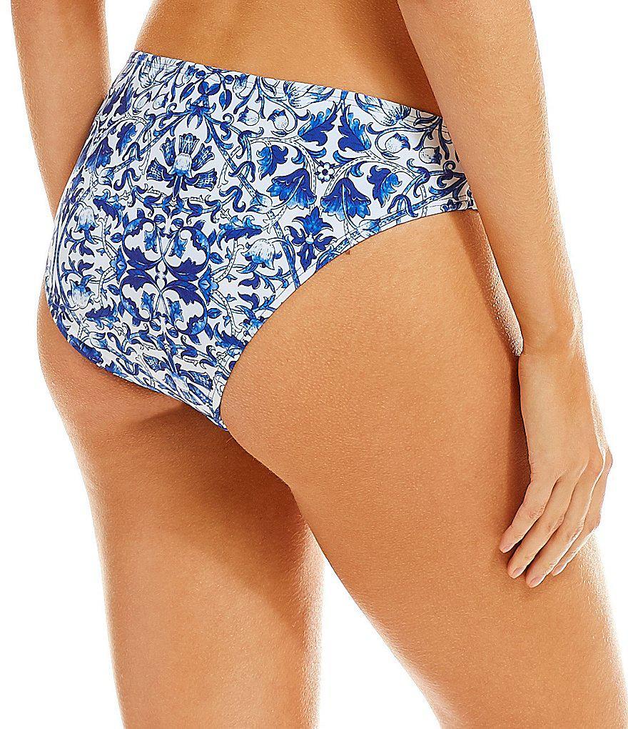 c72548c6b8020 Antonio Melani Blue China Classic Hipster Bikini Swimsuit Bottom in ...