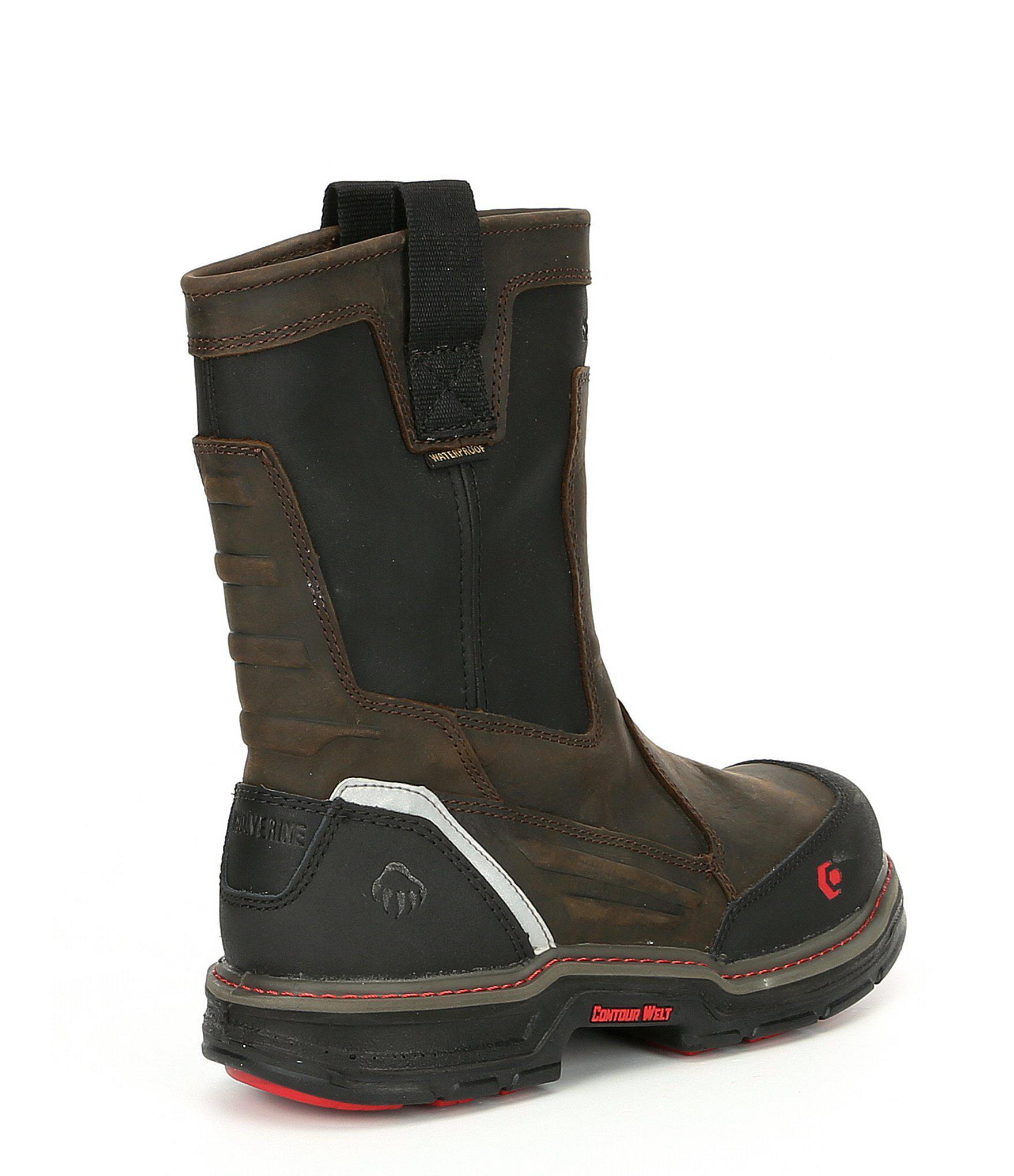 c7f68df9931 Black Men's Overman Waterproof Composite-toe Slip Resistant Work Boot