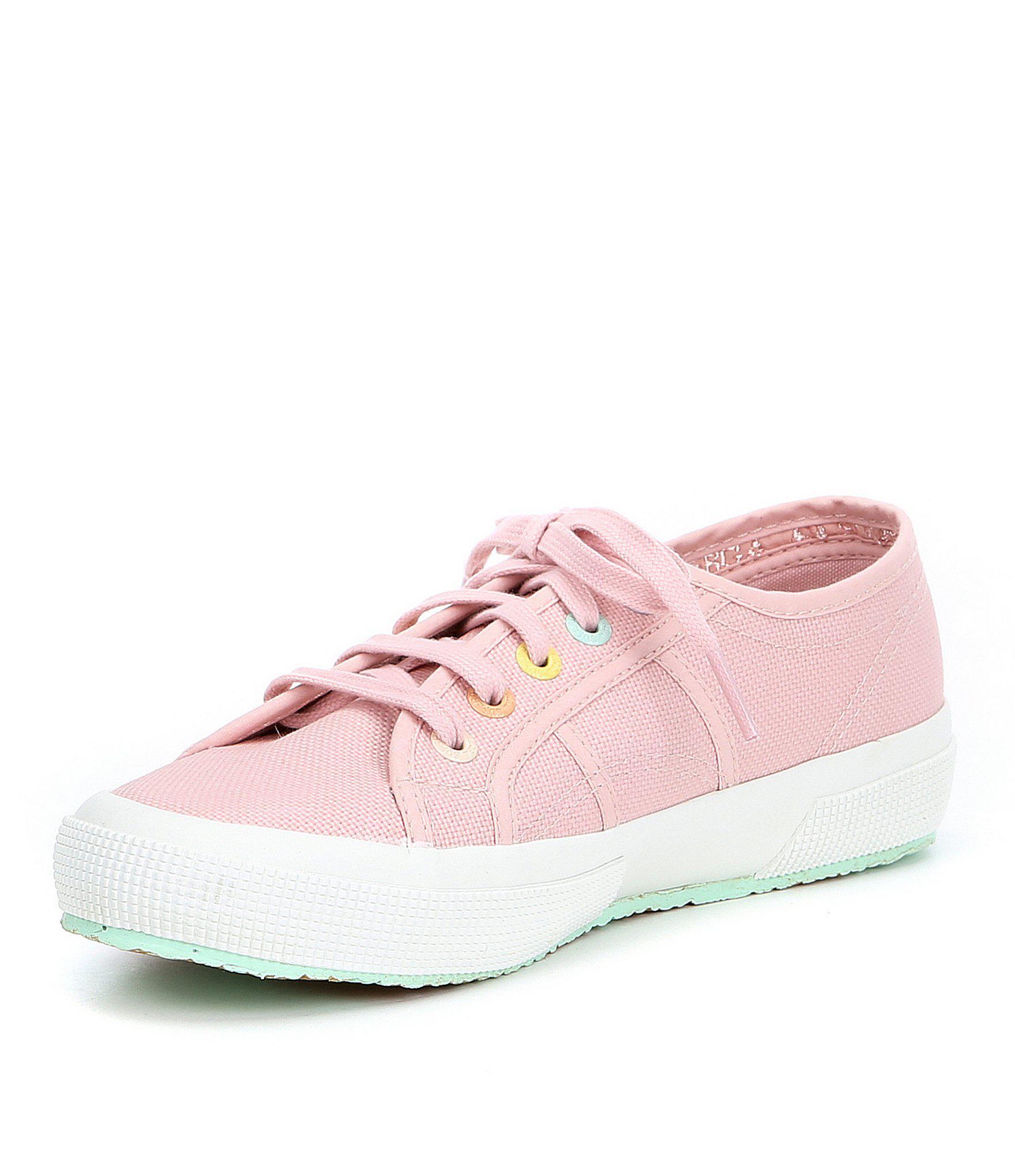 947d2c17af57d Superga Pink 2750 Multi Color Eyelets Sneakers