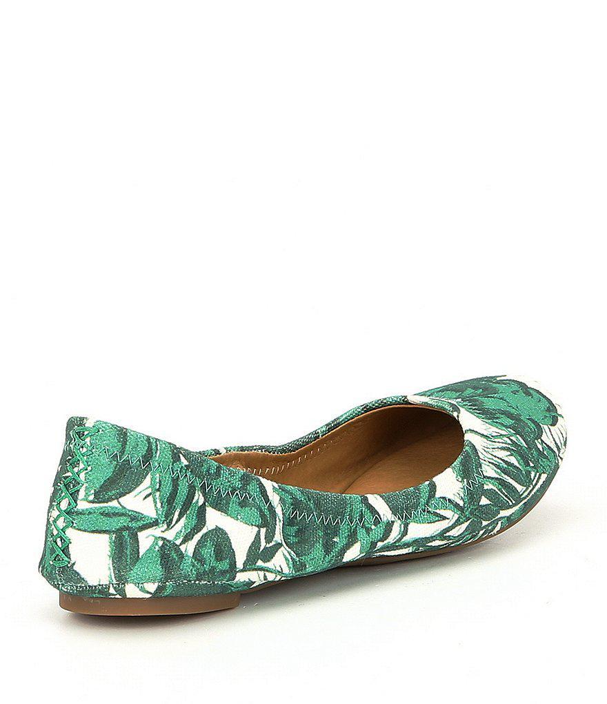 Lucky Brand Leaf Print Ballet Flats Ze2mUm