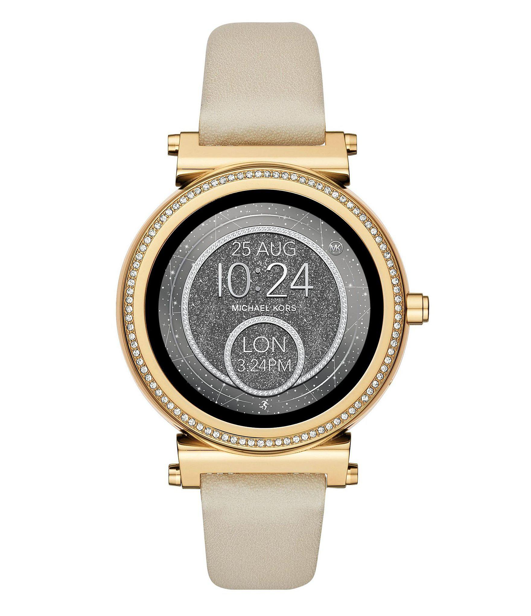 65c96caabf0a Michael Kors - Multicolor Access Sofie Leather Watch Strap - Lyst. View  fullscreen