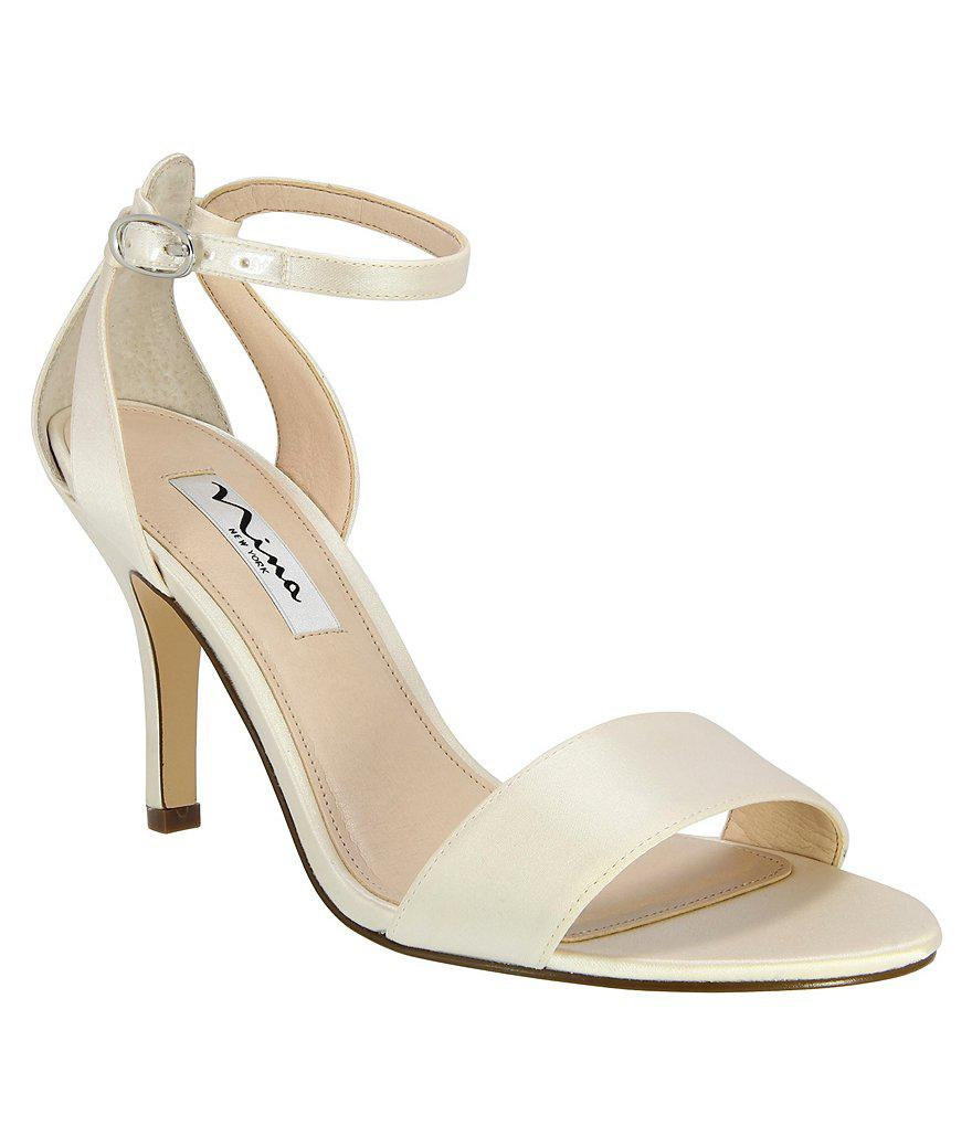 Dyeables Summer Ankle-Strap Sandal(Women's) -White Satin/Lace Discount Shop Outlet Cheap Online Buy Cheap In China bHboUVNUHx