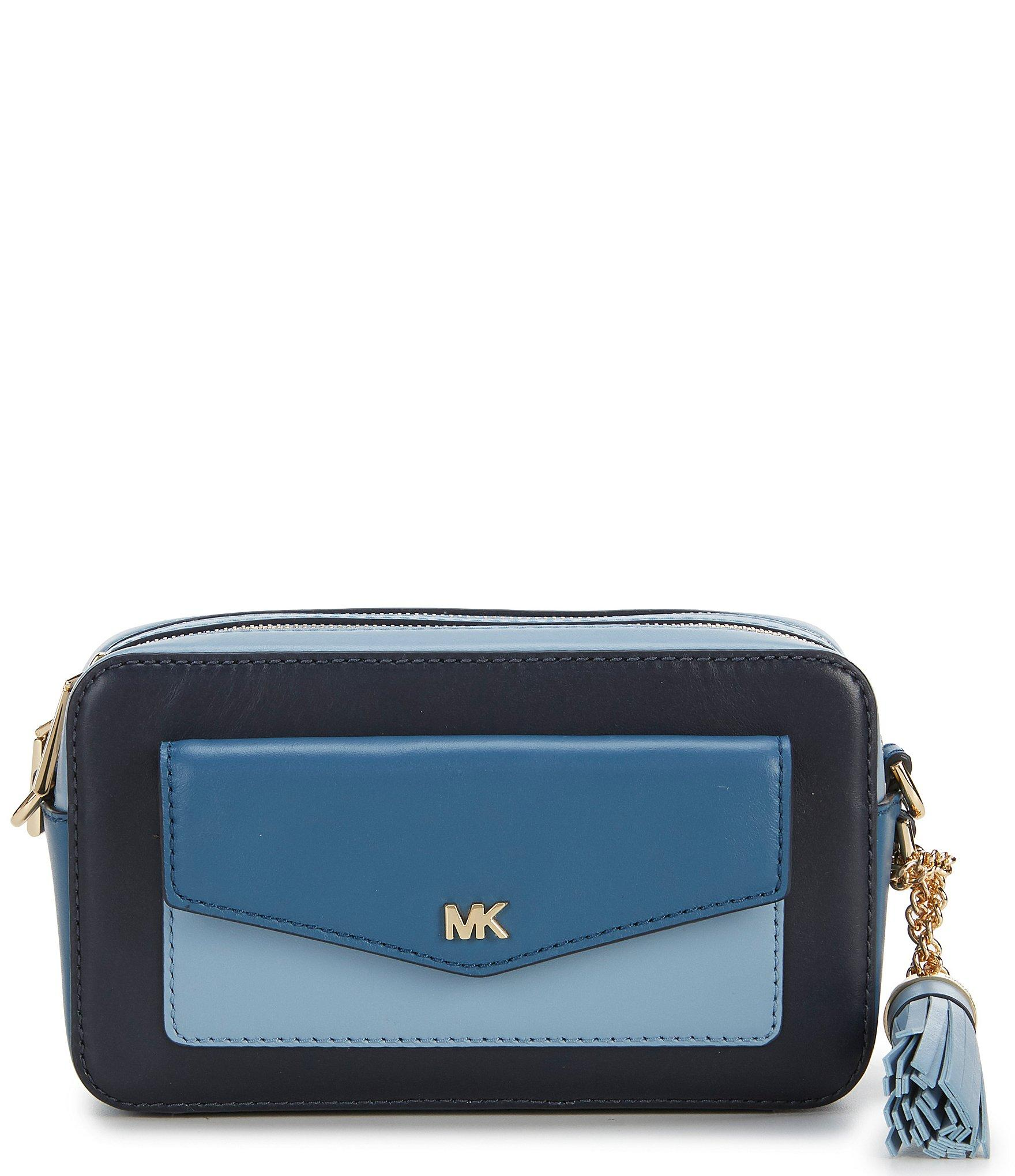 271546c03542 MICHAEL Michael Kors. Women s Blue Small Tri-color Pocket Camera Cross-body  Bag